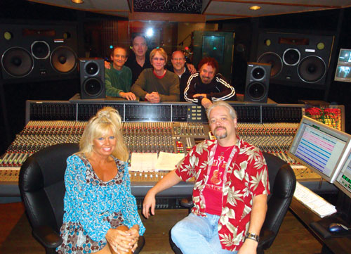 Toni Lynn Starr in studio with Mark Capps